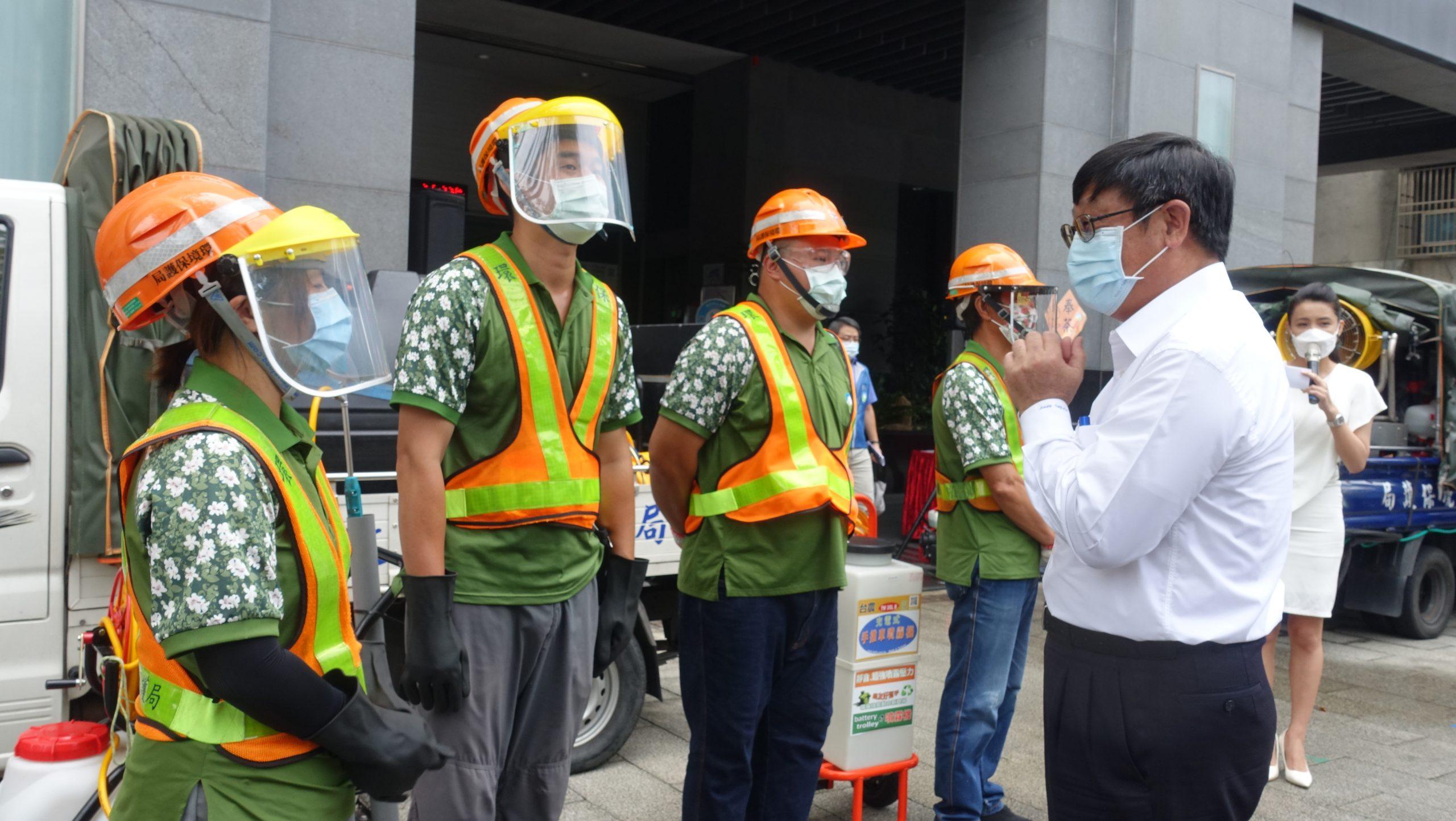 1100804署長向清潔消毒人員的辛勞表達感謝之意1